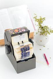 Diy Upcycled Rolodex Recipe Card Organization System Card