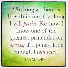 Og Mandino Quotes Gorgeous Og Mandino Quotes Og Mandino Persistence QuotesViralnet
