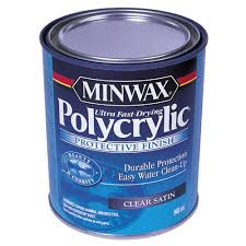 minwax polycrylic water based protective finish 946 ml satin 321034444 réno dépôt