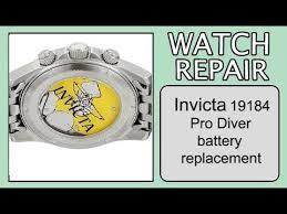Invicta Mens 19184 Pro Diver Battery Replacement