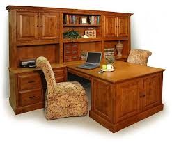 dual desks for home office double peninsula desk stone creek furniture
