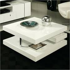 high gloss coffee table white with storage tiffany led lighting