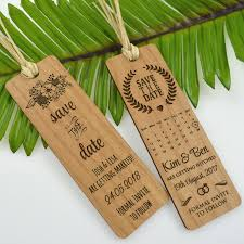 bookmark save the date wooden engraved laser cut bookmark save the date bookmark