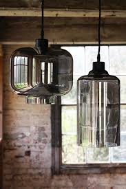 smoked glass pendant ceiling light cylinder from rockett st george
