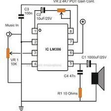 simple small audio amplifier circuit diagram using ic lm386 simple small audio amplifier circuit diagram using ic lm386