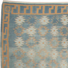 decor vintage flat vintage dhurrie rugs in blue for floor decor ideas