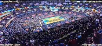 Chesapeake Energy Arena View From Section 311 Row P