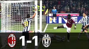 Milan vs Juventus 1-1 Serie A 2011/2012 - All Goals & Full Highlights -  YouTube