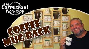 Coffee Cup Rack Under Cabinet Make A Coffee Mug Rack 100th Video Youtube