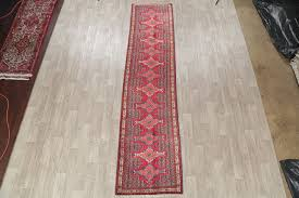 consigned red oriental bidjar wool hand made persian runner rug 13 2 x3 1 mediterranean hall and stair runners by rugsource inc