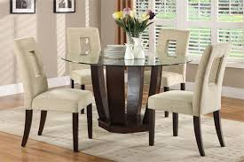 Nice Round Glass Kitchen Table Glass Top Dining Table Round Coffee