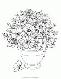 Parents should teach your kids how to color images. Vase And Flowers Coloring Page Coloring Home