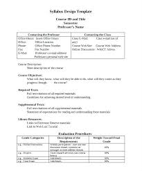 Course Syllabus Template Curriculum Excel Templates And