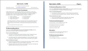 Second Page Of Resumeecond Resume How Format Resumes 2 Example Cover