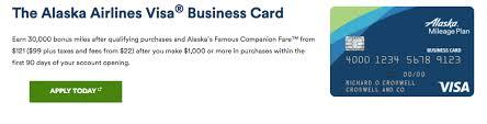 Credit Cards Alaska Airlines Visa Business Card