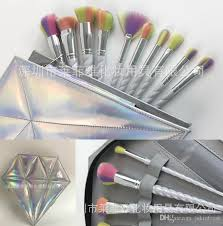 unicorn brush set. 10pcs rainbow hair unicorn thread makeup brushes set with bag professional soft cosmetic foundation brush eyeshadow make up z