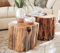 Reclaimed Wood Stump Table