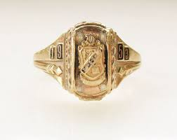 Jostens Class Ring Size Chart Vintage Josten 10k 4 0 Grams Solid Gold Tri Color 1953