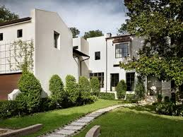 White Stucco House