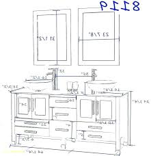 standard height for bathroom sink drain rough in with unique vanity fo