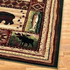 deer area rugs log cabin area rugs camouflage rustic nature themed lodge western clearance whitetail