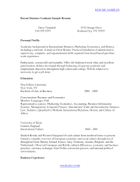 Sample Resume Cover Letter For Recent College Graduate Recent Business  Graduate By.
