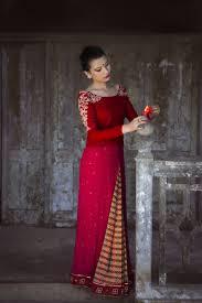Kurta Designs In Nepal Nepali Bridal Wear Brides Story With The Dhaka Chiffon