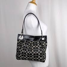 Coach Ashley Sateen Hippie Shoulder Bag Large Logo