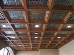 wood drop ceilings