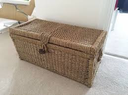 Very Useful Wicker Storage Trunk | Laluz NYC Home Design