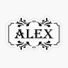 "Alex"" Sticker by FTML | Redbubble"