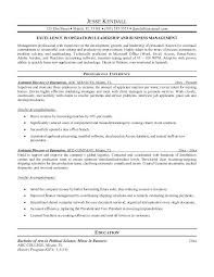 Assistant Operation Manager Resume Resumes Operations Manager