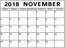 pdf printable calendar november 2018 calendar pdf printable template
