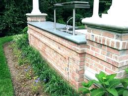 brick patio outdoor kitchen ideas designs grilling station with egg and deck architectures