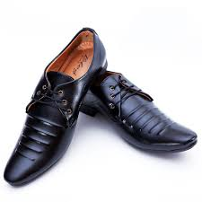 high quality pure black shiny leather formal shoes