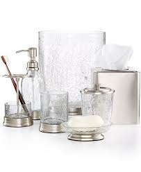 glass bathroom accessories. The Best Of Bathroom Bath Accessories For Luxury Hotel Spa Or Hollywood Glamour In Cracked Glass S