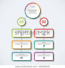 Infographic Flow Chart Template 2 Option Stock Vektorgrafik