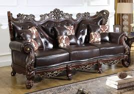 linden traditional brown bonded leather