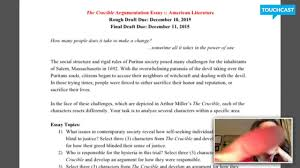 english the crucible essay  english 11 the crucible essay