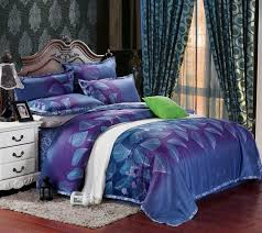 egyptian cotton blue purple satin bedding comforter set sets king queen size duvet cover sheets bedspread