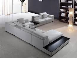 Home Accecories:Modern Sectional Sofa Grey Microfiber Vg Fort 16 Fabric  Within Houzz Modern Sofas