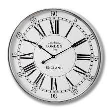 London Bedroom Accessories London City Wall Clock 68cm Bedroom Furniture Direct