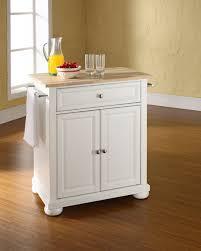 Portable Kitchen Island Ikea Kitchen Kitchen Chest Natural Wood Top Portable White Kitchen