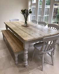 lime washed farmhouse tables and benches bespoke sizes country life furniture quality interiors