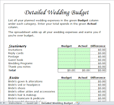 Wedding Budget Template For Excel 2013 Excel Tmp