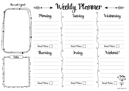 Printable Week Planner Free Printable Weekly Planner Journaling Weekly Planner