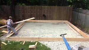 Making Cement Forms Garage Pt 7 Slab Form Youtube