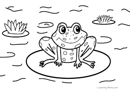 Printable Frog Pictures Frog Printable Cut Out Craft Template The