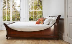 wooden sleigh bed.  Sleigh Wooden Sleigh Bed On G