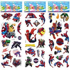 Spiderman Reward Chart 12 Sheets Set Super Hero Spiderman Stickers Toys 3d Puffy Bubble Sticker Scrapbook Spider Man For Kids Boys Gift